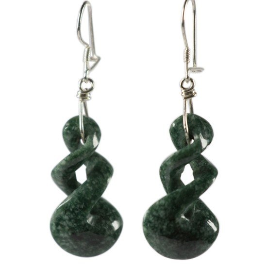 Oorhangers Twist jade donkergroen