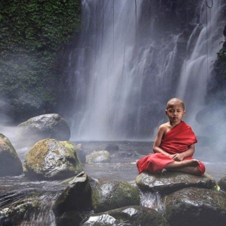 Meditatie oliemengsel