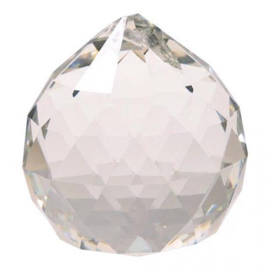 Regenboogkristal bol transparant 2 cm
