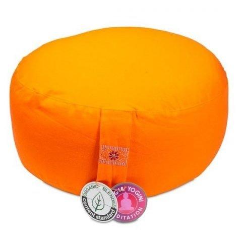 Meditatiekussen oranje BIO katoen