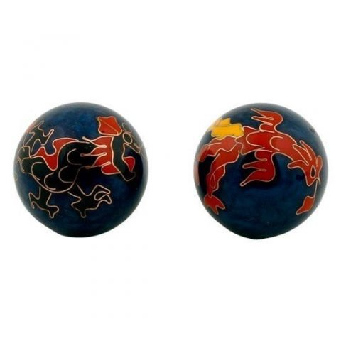Meridiaankogels Draak & Phoenix donkerblauw