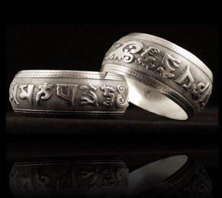 Tribal OMPMH Miao zilveren armband breed