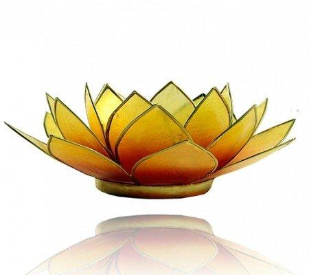 Lotus sfeerlicht oranje/geel 2-kleurig
