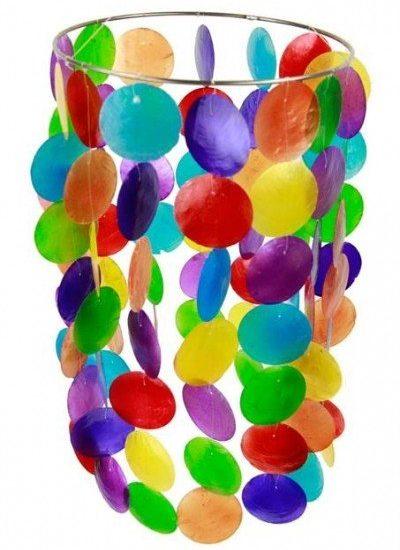Chakra Windmobiel multi kleuren Capiz schelp groot