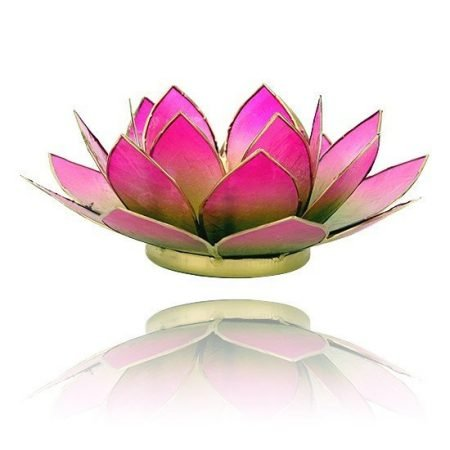 Lotus sfeerlicht groen/roze 2-kleurig