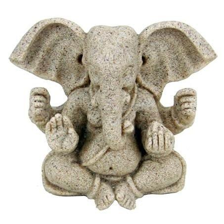 Ganesha beeld van zand