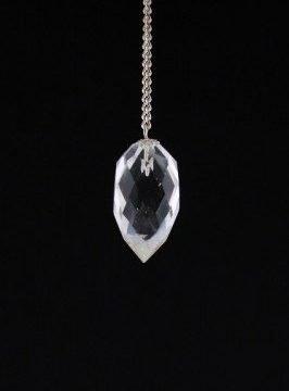 Pendel bergkristal facet druppelvorm