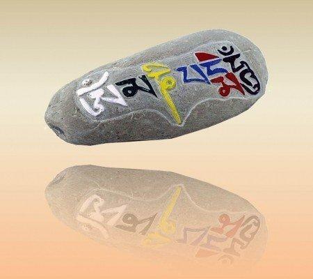 Mani steen Om Mani Pad Me Hum