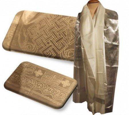 Tibetaanse Katha sjaal wit