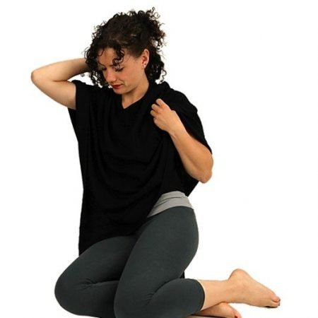 Meditatie Poncho Cashmere zwart