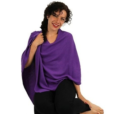 Meditatie Poncho Cashmere paars