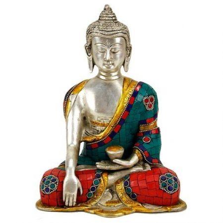 Boeddha Shakyamuni met mozaļek decoratie