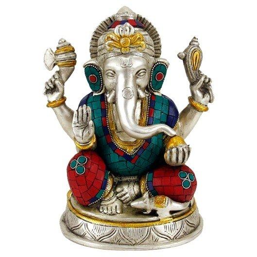 Ganesha beeld met mozaļek decoratie