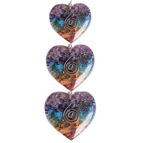 Orgon hanger hartvormig in meerdere kleuren