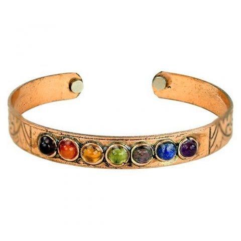 Armband chakra's magnetisch koper