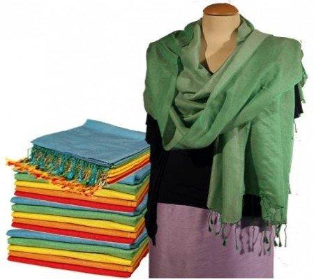 Chakra sjaal groen