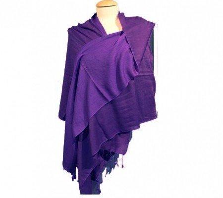 Chakra sjaal violet