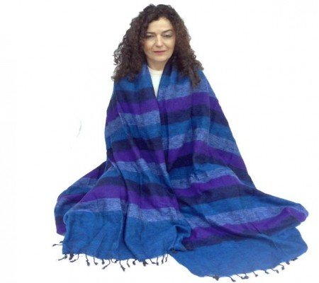Meditatiedeken XL blauw/violet