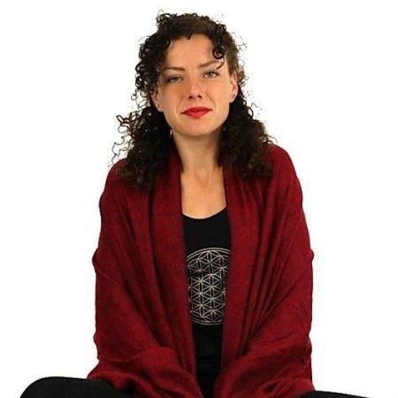 Meditatie omslagdoek Boeddhistisch rood