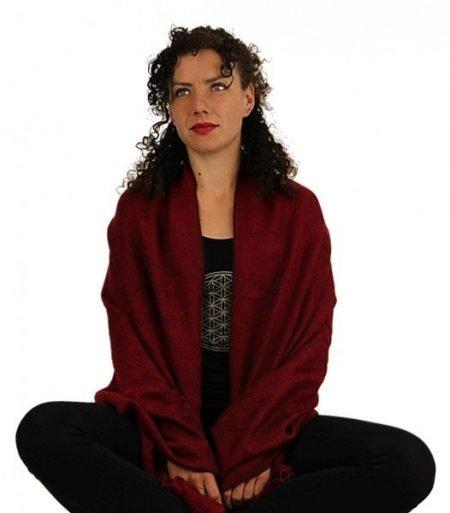Meditatie omslagdoek gemeleerd rood