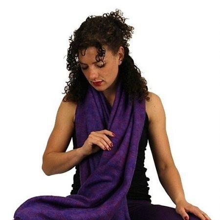 Meditatie omslagdoek violet