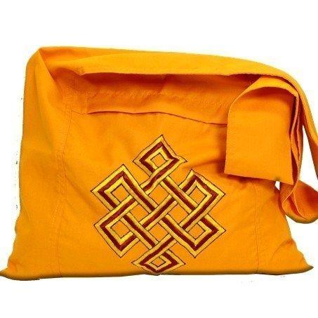 Lama tas oranje met oneindigheids knoop