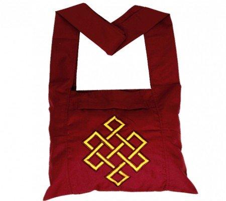 Lama tas rood met gele oneindigheidsknoop