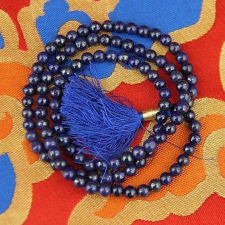 Mala Lapis Lazuli AA-kwaliteit 108 kralen + tasje