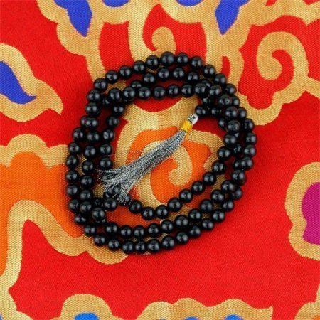 Mala Agaat zwart 108 kralen
