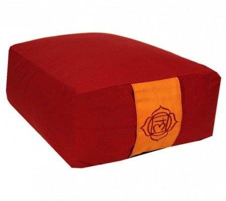 Meditatiekussen roodbruin 1e chakra