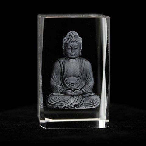 Leveringsproblemen - Kristal laser Boeddha rechthoekig