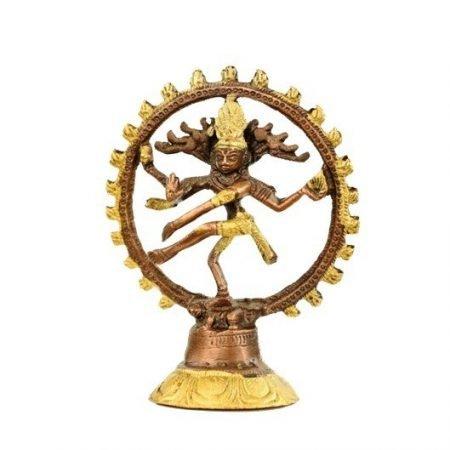 Shiva Nataraj messing 2-kleurig