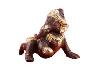 Baby Ganesha messing 2-kleurig