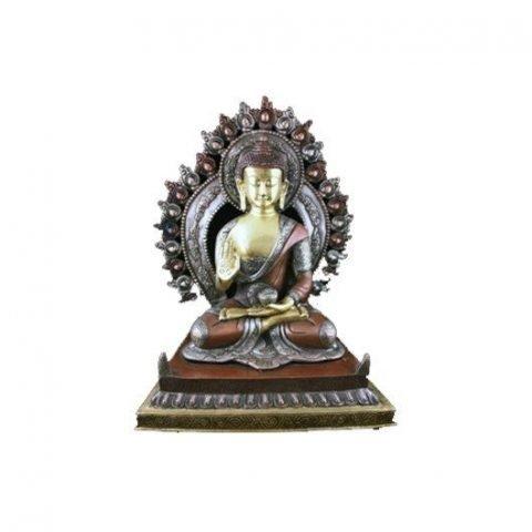 Boeddha Shakyamuni aura 2 kleuren