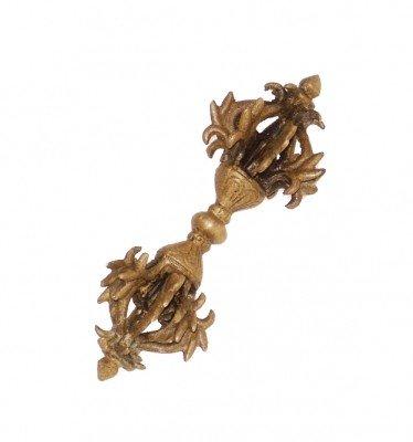 Dorje 9 spaken goudkleur messing mat