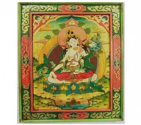 Witte Tara Handbeschilderd paneel hout