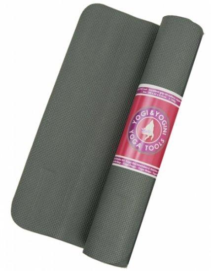 Yogi & Yogini yogamat 5 mm PVC / Grijs
