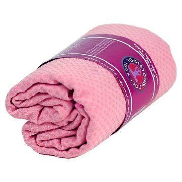 Yoga handdoek PVC antislip roze