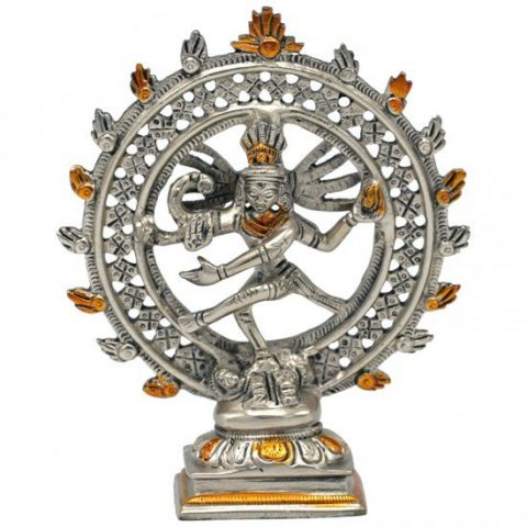Shiva Nataraja - messing - dubbele ring tweekleurig