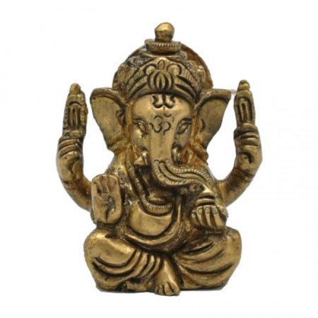 Ganesha - messing - minibeeldje