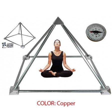 Meditatie bouwpakket piramide - koper