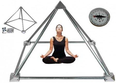 Meditatie Piramide bouwpakket zonder buizen aluminium