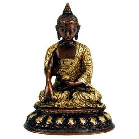 Boeddha Shakyamuni beeld enkelkleurig
