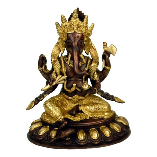 Ganesha messing 2-kleurig