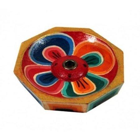 Wierookbrander Lotus gelakt hout kleiner