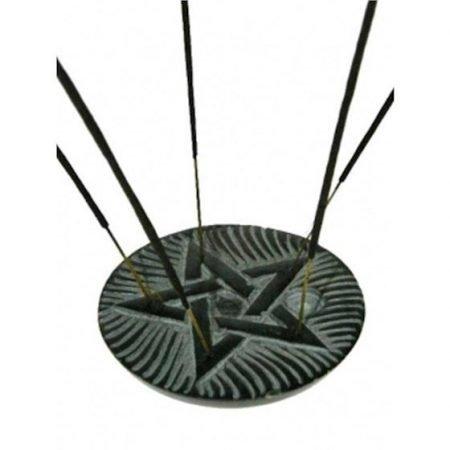 Wierook en kegeltjes brander pentagram zeepsteen