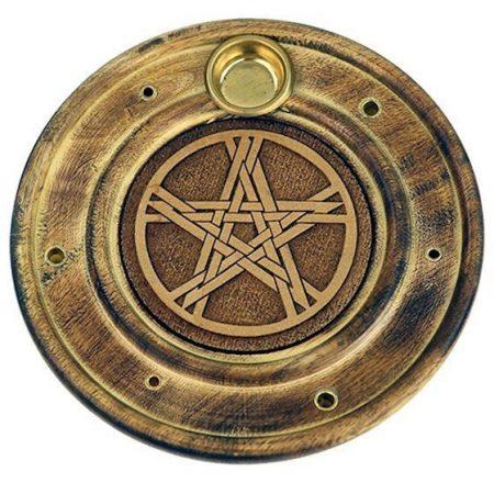 Wierook en kegeltjes brander pentagram