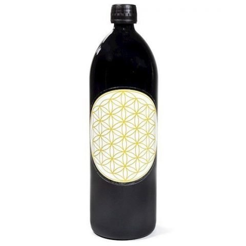 Drinkfles Miron violet /Flower of Life goud