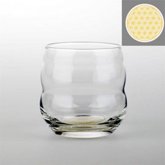 Drinkglas Mythos met Bloem des Levens goud