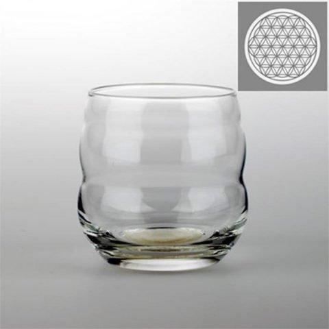Drinkglas Mythos met Bloem des Levens wit gegraveerd